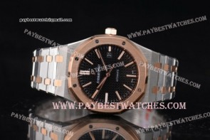 Audemars Piguet Royal Oak 37mm 15400SR.OO.1220SR.01 Black Dial Two Tone watch (J12)