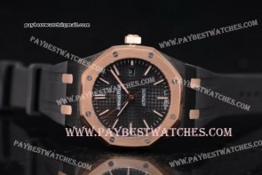 Audemars Piguet Royal Oak 36mm 15400ST.OO.1220ST.14 Black Dial Black Rubber PVD watch (EF)