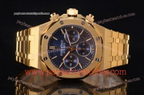 Audemars Piguet Royal Oak Chronograph 26320BA.OO.1220BA.02 Blue Dial Full Yellow Gold Watch (EF)