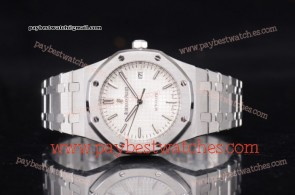 Audemars Piguet Royal Oak 15400st.oo.1220st.02N White Dial Full Steel Watch