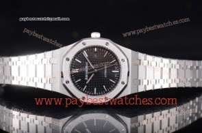 Audemars Piguet Royal Oak 15400ST.OO.1220ST.01 Black Dial Full Steel Watch