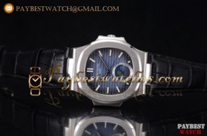 Patek Philippe Nautilus 5731A-001 Blue Dial Black Leather Steel Watch