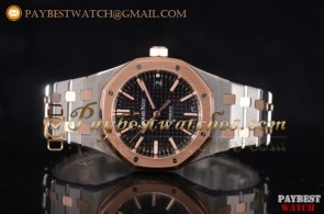Audemars Piguet Royal Oak 15400SR.OO.1220SR.02 Black Dial Full Two Tone Watch (JF)