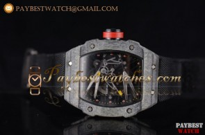 Richard Mille RM027-2 Skeleton Dial Black Nylon Carbon Fiber Watch