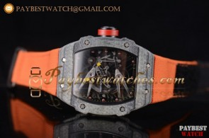 Richard Mille RM027-2 Skeleton Dial Orange Nylon Carbon Fiber Watch