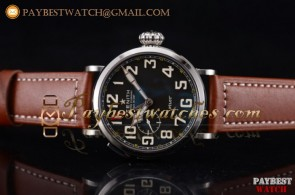 Zenith Pilot Type 20 GMT 03.2430.693/21.C724 Black Dial Brown Leather Steel Watch