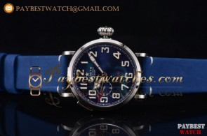 Zenith Pilot Type 20 GMT 96.2436.693/51.c779 Blue Dial Blue Leather Steel Watch