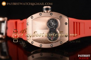 Richard Mille RM053 Skeleton Dial Red Rubber Rose Gold Watch