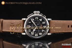 Zenith Heritage Pilot Ton-up 11.2430.4069/21.C777 Black Dial Brown Leather Steel Watch