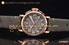 Zenith Heritage Pilot Ton-up 11.2430.4069/21.C776 Grey Dial Army Green Leather Rose Gold Watch
