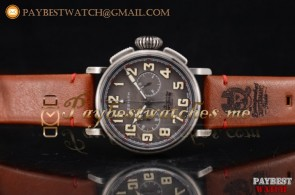 Zenith Heritage Pilot Ton-up 11.2430.4069/21.C775 Grey Dial Brown Leather Steel Watch
