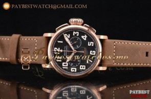 Zenith Heritage Pilot Ton-up 11.2430.4069/21.C774 Black Dial Brown Leather Rose Gold Watch