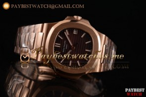 Patek Philippe Nautilus 5711/1R-001 Brown Dial Full 18K Rose Gold Watch (BP)