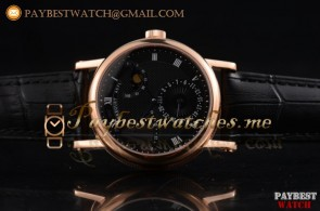 Breguet Classique Power Reserve 7137bb/11/9v9 Black Dial Black Leather Rose Gold Watch