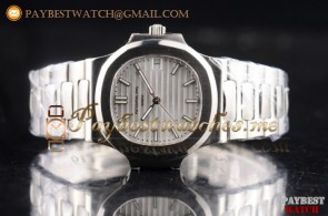 Patek Philippe Nautilus Jumbo 5711/1A-011 White Dial Full Steel Watch (BP)