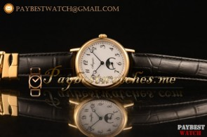 Breguet Classique 100-02-22-12-08 White Dial Black Leather Yellow Gold Watch