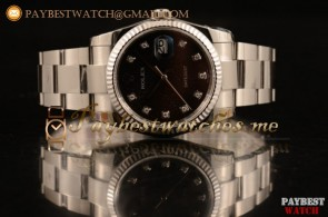 Rolex Datejust 116234 blkdo Brown Dial Steel Bracelet Steel Watch 1:1 Original (MARK F)