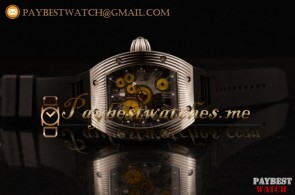 Richard Mille RM 018 Tourbillon Hommage a Boucheron RM 018 Steel Skeleton Dial Black Rubber Strap Watch