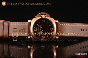 Panerai Luminor 1950 3 Days PAM00372R Brown Dial Brown Leather Strap Rose Gold Watch