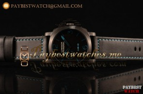 Panerai LAB-ID Luminor 1950 Carbontech 3 days PAM00700 Black Dial Black Leather Strap PVD Watch