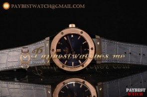 Hublot Classic Fusion 511.CM.7170.LRR Blue Dial Blue Leather Strap PVD/Rose Gold Watch