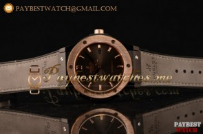 Hublot Classic Fusion 511.CM.7170.LRG Grey Dial Grey Leather Strap PVD/Rose Gold Watch