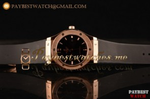 Hublot Classic Fusion 511.OX.1181.LRR Black Dial Black Leather Strap Rose Gold Watch
