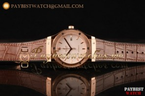 Hublot Classic Fusion 511.OX.2611.LRR White Dial Brown Leather Strap Rose Gold Watch