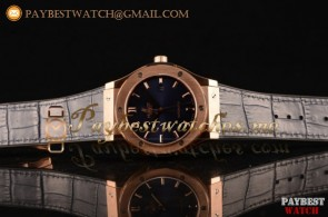 Hublot Classic Fusion 511.NL.2611.LRL Blue Dial Blue Leather Strap Rose Gold Watch