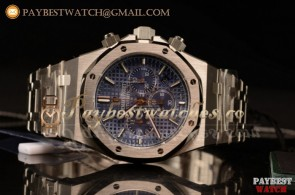 Audemars Piguet Royal Oak Chronograph 26320ST.OO.1220ST.03 41  Blue Dial Steel Watch(JH)