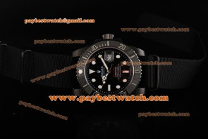 Rolex Pro- Hunter Submariner Ceramic Bezel 116610LN ny Black Dial Ceramic Bezel Black Nylon Strap PVD Watch