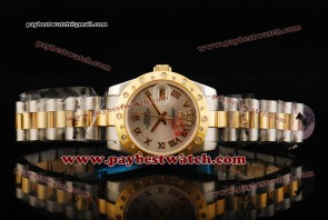 Rolex Datejust 31MM Lady 178343/26 sdrp Sliver Dial Gold Roman Numeral Markers Two Tone Strap Two Tone Watch