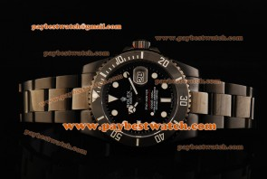 Rolex Pro-Hunter Submariner 116610LN Black Dial PVD Strap PVD Watch