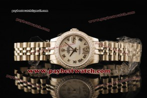 Rolex Datejust 31MM 178384 sdrj White Dial Diamond Bezel Roman Numerals Markers Steel Strap Steel Watch
