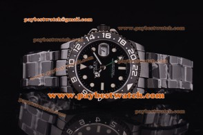 Rolex Pro-Hunter GMT-Master 116710 c Ceramic Bezel Black Dial Lume Dot Markers White Hands PVD Strap PVD Watch
