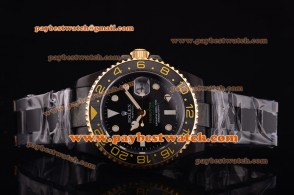 Rolex Pro-Hunter GMT-Master 116710 gp Rose Gold Bezel Black Dial Lume Dot Markers PVD Strap PVD Watch