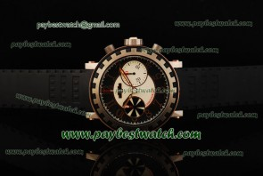 Dewitt Academia Chrono AC.6005.28A.M003 Black Rubber Strap Rose Gold Watch