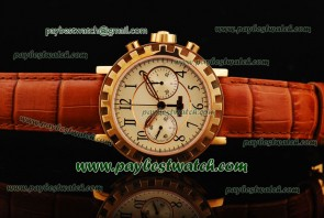 Dewitt Academia Chrono AC.6005.53.M093 Brown Leather Strap Gold Watch