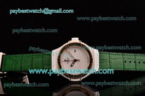 Hublot Big Bang Tutti Frutti Caviar 1:1 Original 346.PX.0880.LR.1904 White Dial Green Leather Strap Ceramic Watch