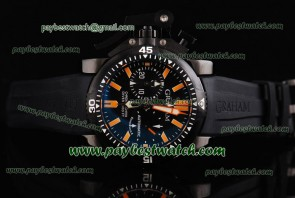Graham Chronofighter Oversize Diver 2OVEZ.B24A Black Rubber PVD Watch