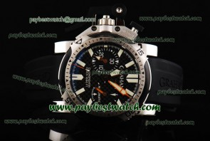 Graham Chronofighter Oversize Diver 2OVEZ.B24A Black Rubber Steel Watch