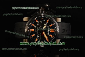 Graham Chronofighter Oversize Diver Date 2OVEZ.B24A Black Rubber PVD Watch